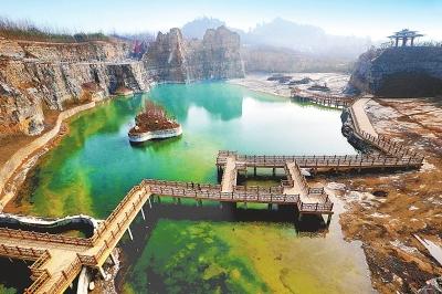 芒砀山省级地质公园位于河南省永城市芒山镇与条河乡,占地总面积